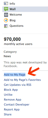 how to make the follow button appear on facebook
