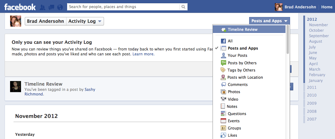 How To Enable Facebook\u0027s Timeline Review