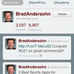 BradsDomain Mobile Twitter Stream
