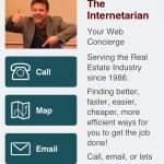 BradsDomain Mobile App Contact Info