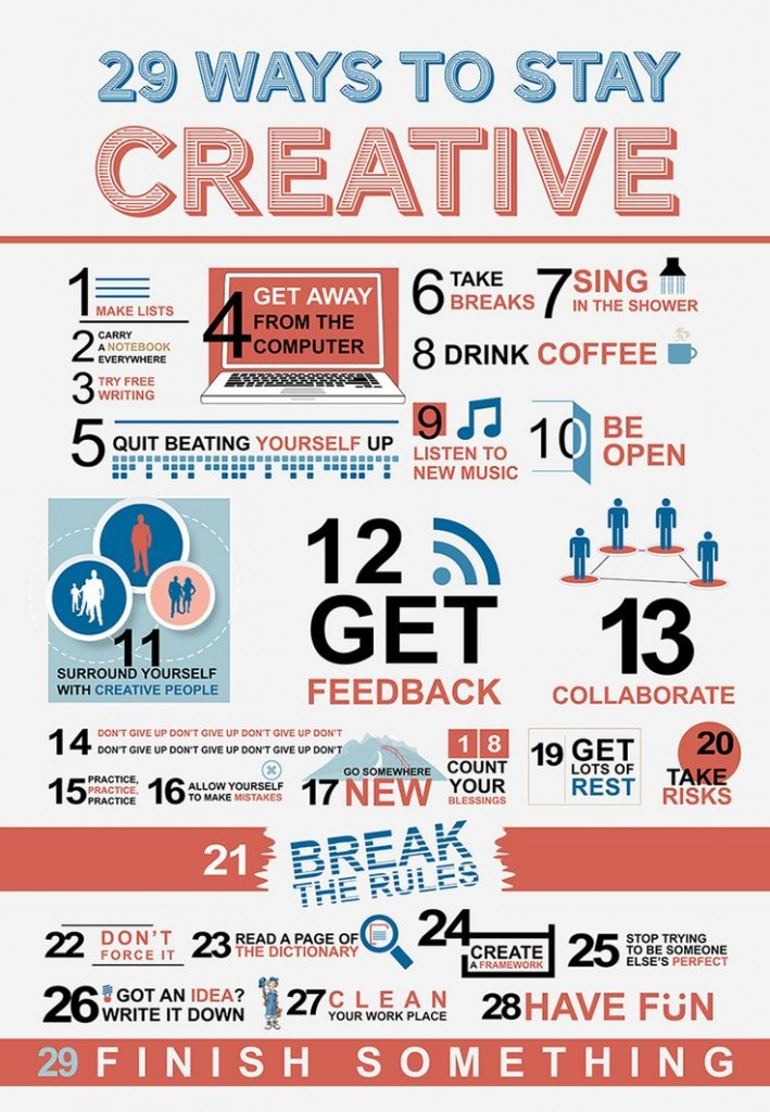 29 Ways to be creative