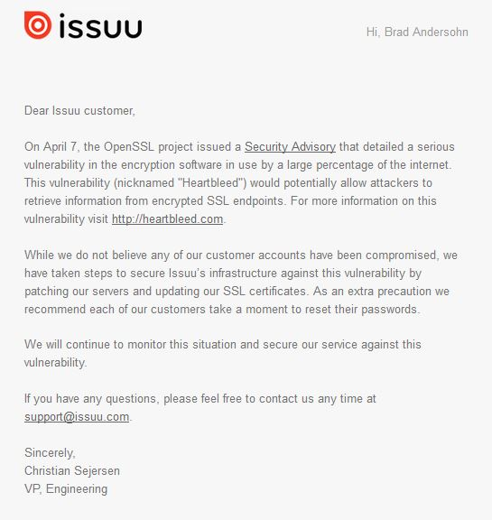 Issuu SSL Notice