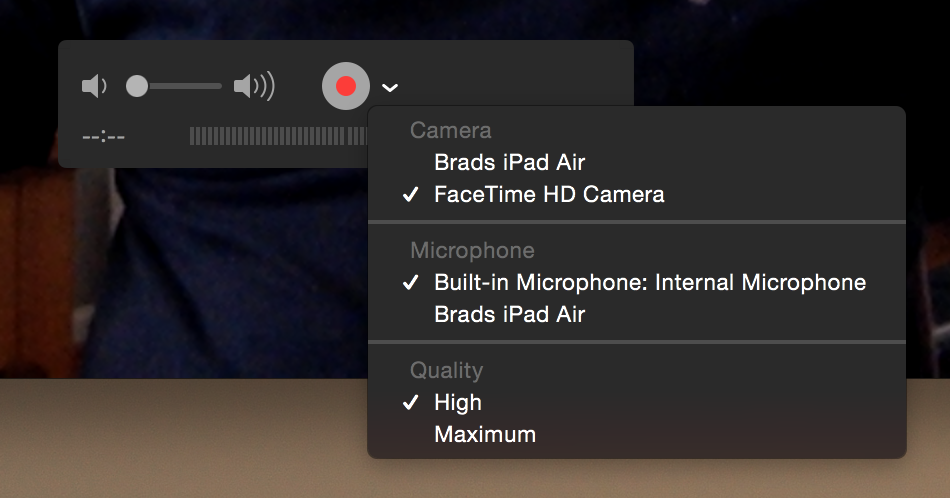 QuickTime Video Options