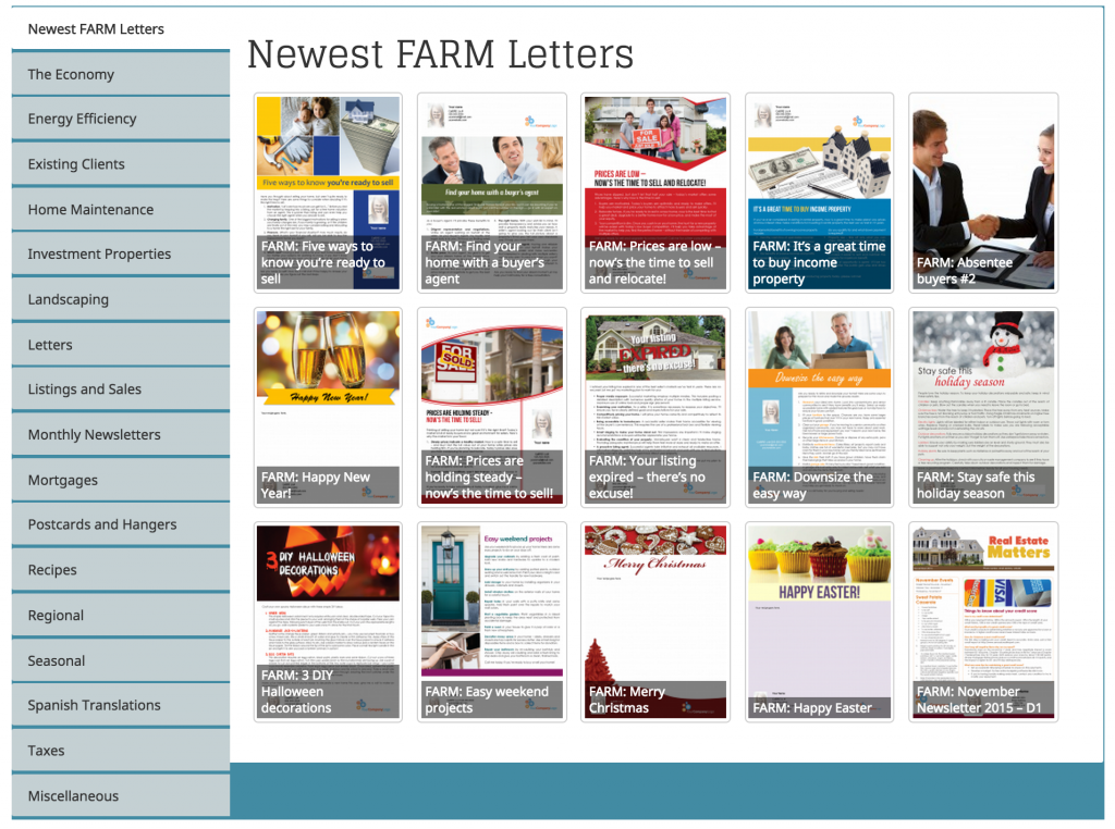 Real Estate Farm Letters